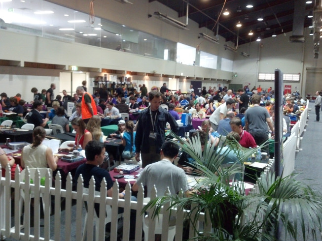 Player's area at Cancon 2015