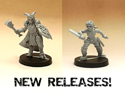 New fantasy and post-apocalyptic gaming miniatures from Ex Manus Studios