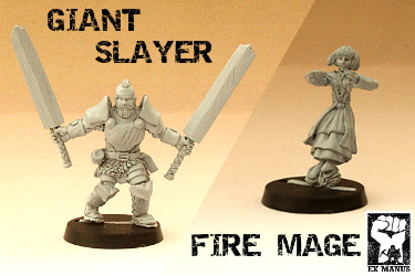 New Giant Slayter and Fire Mage miniatures now available!